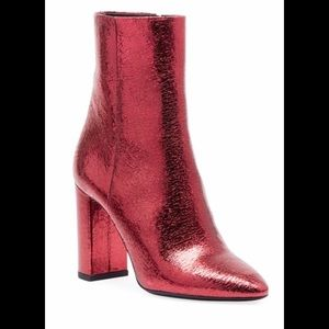 Saint Laurent Crackled Metallic Boots